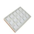 Bandeja de la exhibición de la joyería de la PU del cuero beige agradable para el collar (PT-K10B)