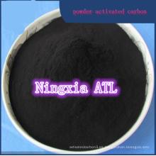 Carbón activado basado en madera lavada ácido para la refinación del azúcar