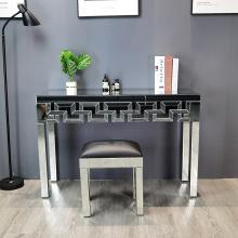 mesa consola con diseño geométrico espejo claro