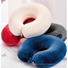 Popular Natural Latex U-Shape Neck Travel Pillow Strong Support Soft Comfortable Close Fitting to Neck From Manufacturer