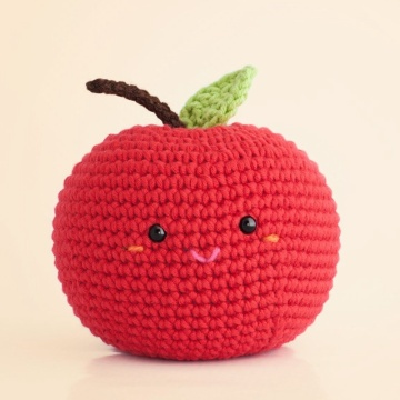 Poupée 100% coton Crochet Smiley fait main Fruits