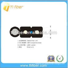1 núcleo G657A cable FTTH exterior con dos miembros de resistencia FRP y alambre de acero