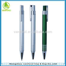 Дешевые поощрительный подарок анодированного алюминия ручка с логотипом печати