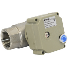 2 Way NSF Electric Auto Shut off Water Ball Valve Motor Valve with Manual Operation for Hot Water (T25-S2-B)