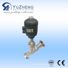 Válvula de assento angular pneumática de aço inoxidável