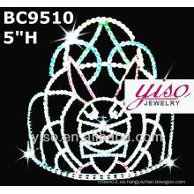 Corona de cristal de diamante y tiara