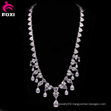 Charming White Stone Gold Filled Wedding Necklace