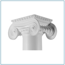 Venta caliente Resin Roman Capital Pillar Caps