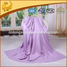 Fábrica de manta de alta qualidade China Longo tamanho Cor branca Atacado Cobertura de avião para viagens