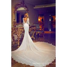 Chiffon Wedding Dress with Long Sleeve