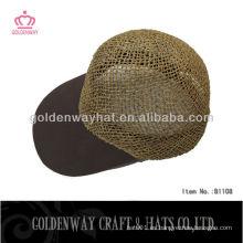 Gorrita tejida natural popular de la paja gorras de camionero