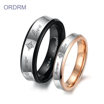 Custom Unique Couple Promise Ring Set With Name