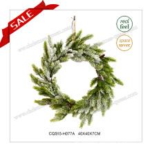 16′′ Christmas Wedding Plastic Christmas Wreath Christmas Glass Ornaments