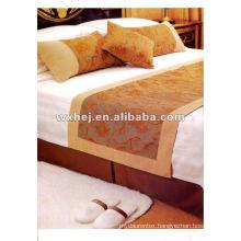 250TC white 6 pcs bedding set for 5 star hotel