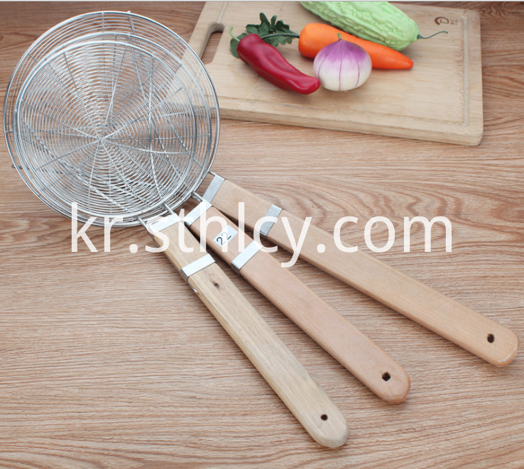 Set Of 3 Stainless Steel Mesh Strainer
