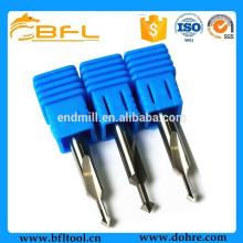 Fraise en bout de foret de forme de V de carbure de tungstène de BFL pour l'acier inoxydable