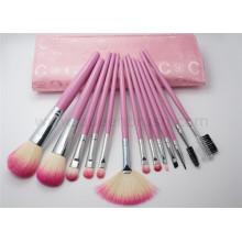 13PCS Красивый набор кистей для макияжа с розовым мешочком