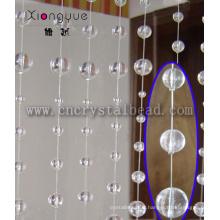 Déco maison attrayante en gros verre rideau en perle de cristal