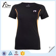 Frauen Nylon Spandex T-Shirt Fitness Tragen