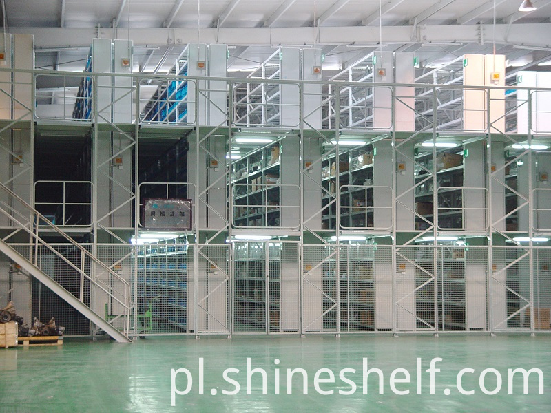 3 Tiers of Mezzanine Racking and Flooring