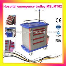 MSLMT02M Chariot / chariot pour hôpitaux à 5 couches avec roues. Plus de mobilier d'hôpital pour vous choisir!