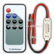 LED dimmer switch RF Remote Single color LED Controller with black and red wire