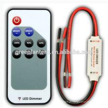 Controlador dimmer do diodo emissor de luz do RF do interruptor do dimmer do diodo emissor de luz da única cor com fio preto e vermelho