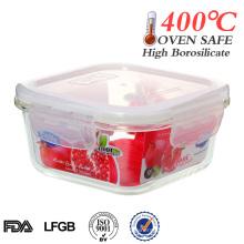 2014 Easylock 500ml quadratischen hitzebeständigen Glas Lebensmittel Vorratsbehälter