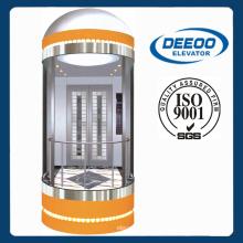 450-1600kg Liso Seguro Observación Vista Ascensor