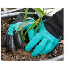 Garden  gloves with claws, earth digging gloves and sand digging gloves and insulation gloves  with beach gloves, garden tools