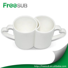 11OZ ceramic couple love white sublimation mugs