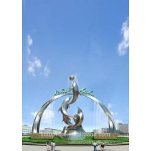 Современная Большие Известные Искусства из нержавеющей стали Животная скульптура для украшения сада