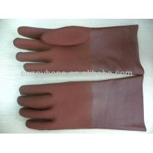 Raue sandige PVC-beschichtete Handschuhe