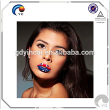 High quality Customized temporary novelty tattoo sticker(lipstick series)