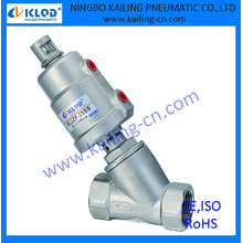 """2 inch size angle cock valve, stainless steel body and actuator, KLJZF-2""""SS"""