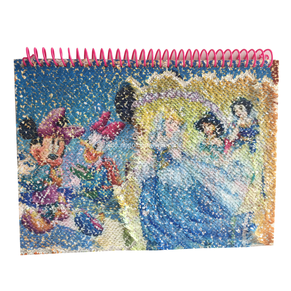 Sequin Transfer Journal Tagebuch Notizbuch