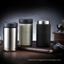 New design 304 double layers stainless steel Dermatoglyph lid Rubber paint body office gift vacuum thermal insulation cups