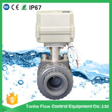 Actuador eléctrico UPVC 10nm de válvula de bola abierta o cerrada en China