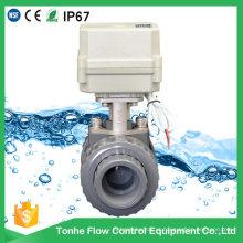 Atuador elétrico da válvula de esfera de 10nm de UPVC que abrem ou fecham fabricantes em China
