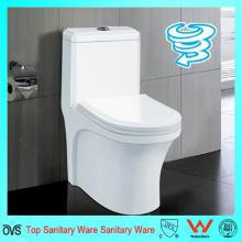 China Fabricante de una pieza de doble lavado de WC