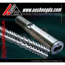 PP.PE.PVC.PET.ABS.PPR пластиковый экструдер машина конический двухшнековый и цилиндрический