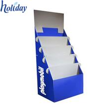 Support de support de documentation de poches, affichage de carte de voeux de carton à gradins pour le plancher