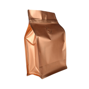 Aluminium Foil 250g Ground Coffee Bags Degassing Valve