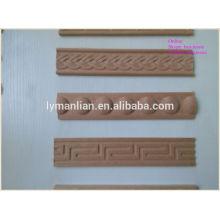 Moulure en bois décorative découpée délicate / moulures en bois découpées à la main