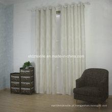 Tecido moderno da cortina do jacquard do poliéster novo