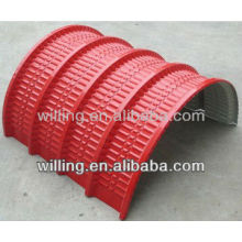 Arched roofing sheet making machine