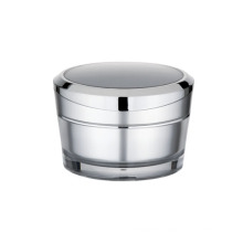 Pyramid round plastic cosmetic jar