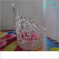 Atacado Fashion pearl grande representação coroas cheias cheias de pedras de strass tiaras