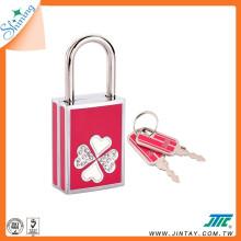 Shining Handbag Security Key Padlock with crystals