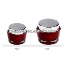 Oval de acrílico cosméticos Jar para el embalaje